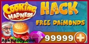 COOKING MADNESS MOD APK 2021 Download (Unlimited Diamond, Energy) 2